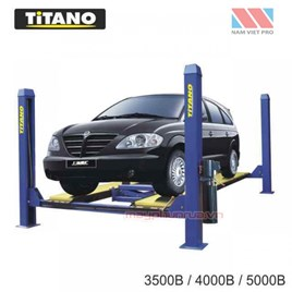 Cầu nâng ô tô 4 trụ 3.5 tấn, lắp đĩa cân chỉnh bánh xe 3500B