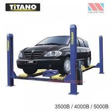 Cầu nâng ô tô 4 trụ 5 tấn, lắp đĩa cân chỉnh bánh xe 5000B