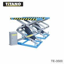Cầu nâng ô tô kiểu xếp 3.5 tấn, bàn nâng nhỏ TE3500
