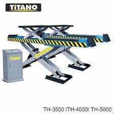 Cầu nâng ô tô kiểu xếp 3.5 tấn, bàn rộng, 2 tầng nâng TH3500