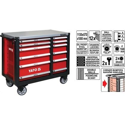 Tủ đựng đồ nghề cao cấp 12 ngăn YT-09003 hinh anh 1