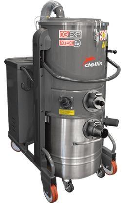 Máy hút bụi công nghiệp 3 pha 5.5Kw Delfin DG70 hinh anh 1